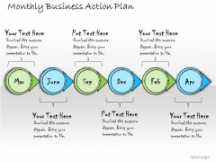 Ppt Slide Monthly Business Action Plan