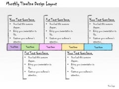 Ppt Slide Monthly Timeline Design Layout Business Diagrams