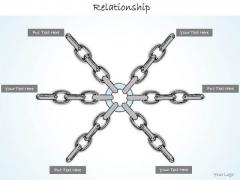 Ppt Slide Multiway Relationship Concept Diagram Sales Plan