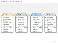 Ppt Slide Parallel Flow Text Boxes Diagram Consulting Firms