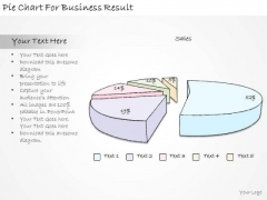 Ppt Slide Pie Chart For Business Result Sales Plan