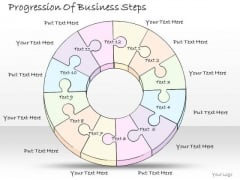 Ppt Slide Progression Of Business Steps Sales Plan