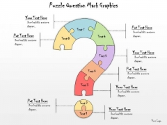 Ppt Slide Puzzle Question Mark Graphics Marketing Plan