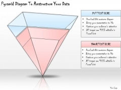 Ppt Slide Pyramid Diagram To Restructure Your Data Sales Plan