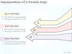 Ppt Slide Representation Of 3 Parallel Steps Strategic Planning
