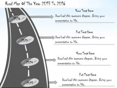 Ppt Slide Road Map Of The Year 2013 To 2016 Business Diagrams