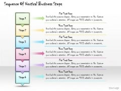Ppt Slide Sequence Of Vertical Business Steps Consulting Firms