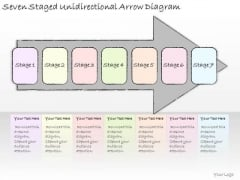 Ppt Slide Seven Staged Unidirectional Arrow Diagram Strategic Planning