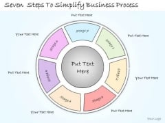 Ppt Slide Seven Steps To Simplify Business Process Sales Plan