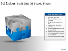 Ppt Slide Showing 3d Cube With Editable Colors PowerPoint Diagrams