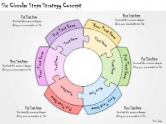 Ppt Slide Six Circular Steps Strategy Concept Consulting Firms