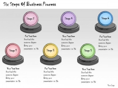 Ppt Slide Six Steps Of Business Process Diagrams