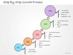 Ppt Slide Step By Growth Process Sales Plan