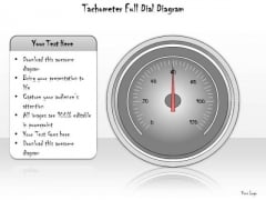 Ppt Slide Tachometer Full Dial Diagram Sales Plan