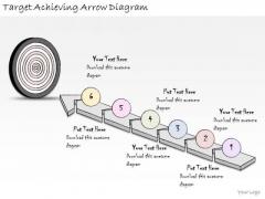 Ppt Slide Target Achieving Arrow Diagram Marketing Plan