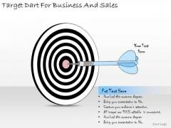 Ppt Slide Target Dart For Business And Sales Marketing Plan