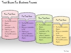 Ppt Slide Text Boxes For Business Process Sales Plan