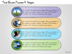Ppt Slide Text Boxes Process 4 Stages Strategic Planning