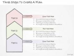 Ppt Slide Three Steps To Create Plan Strategic Planning
