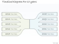 Ppt Slide Timeline Diagram For 10 Years Business Diagrams