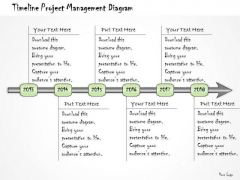 Ppt Slide Timeline Project Management Diagram Business Diagrams