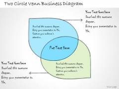 Ppt Slide Two Circle Venn Business Diagram Sales Plan