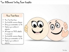 Ppt Slide Two Different Smiley Face Graphic Marketing Plan
