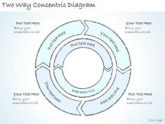 Ppt Slide Two Way Concentric Diagram Marketing Plan