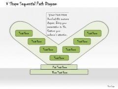 Ppt Slide V Shape Sequential Path Diagram Business Diagrams