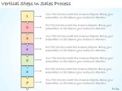 Ppt Slide Vertical Steps In Sales Process Plan