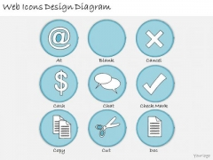 Ppt Slide Web Icons Design Diagram Sales Plan