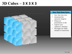 Ppt Slide With Editable Layers Of 3d Cubes