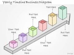 Ppt Slide Yearly Timeline Business Diagram Plan