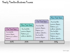 Ppt Slide Yearly Timeline Business Process Strategic Planning