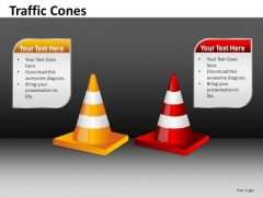 Ppt Slides 2 Editable Road Cones PowerPoint Templates