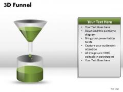 Ppt Slides 3d Funnel Filling Liquid PowerPoint Templates