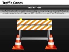Ppt Slides Business Roadblocks Ahead Traffic Cones PowerPoint Templates