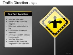 Ppt Slides Choices Of Directions Road Signs PowerPoint Templates