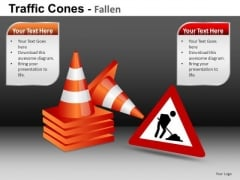 Ppt Slides Construction Zone Road Sign PowerPoint Templates
