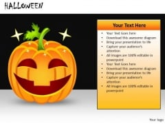 Ppt Slides Creepy Halloween Pumpkin PowerPoint Templates
