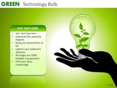 Ppt Slides Green Environmentally Friendly Initiatives PowerPoint Templates