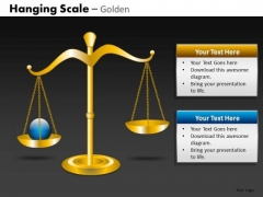 Ppt Slides Important Point Balance Weighing Scales PowerPoint Templates