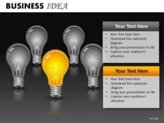 Ppt Slides Light Bulbs Ideas