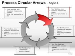 Ppt Slides Process Circular Arrows With Text Boxes PowerPoint Templates
