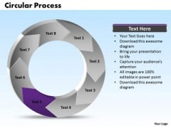 Ppt Stage 5 In Recycle Process Circular PowerPoint Menu Template Manner Templates