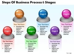 Ppt Steps Of Business PowerPoint Presentation Process 6 Stages Templates