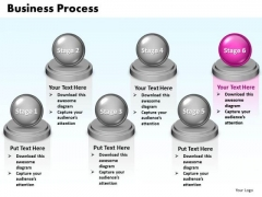 Ppt Steps Of Business Process Six Stages Marketing Presentation PowerPoint 0812 Templates