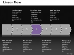 Ppt Straight Flow Illustration PowerPoint Slide Numbers Of Process Templates