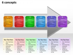Ppt Successive Abstraction Of 6 Concepts An Arrow PowerPoint Templates