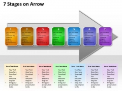 Ppt Successive Explanation Of 7 Stages Arrow PowerPoint Templates